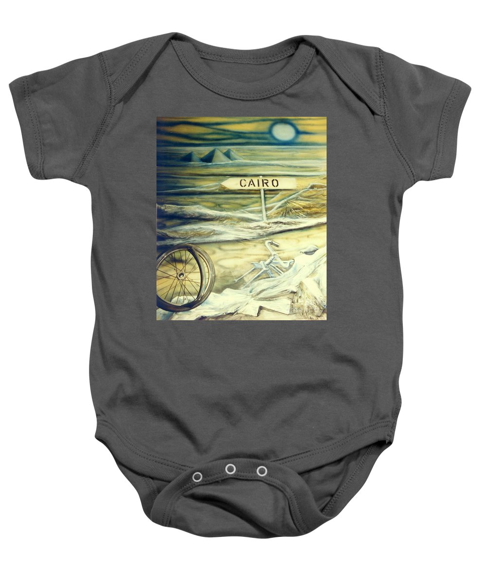 Replica Baby Onesie featuring the painting Way To Cairo by Eva-Maria Di Bella