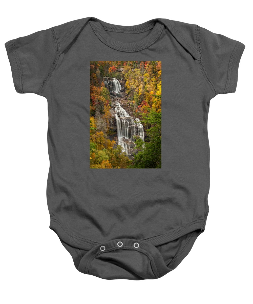 Autumn Baby Onesie featuring the photograph Whitewater Falls 1 by Joye Ardyn Durham