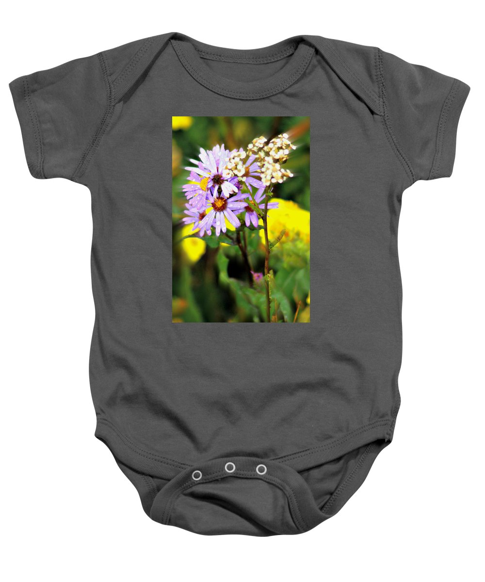 Flower Baby Onesie featuring the photograph Wild Floral by Marty Koch