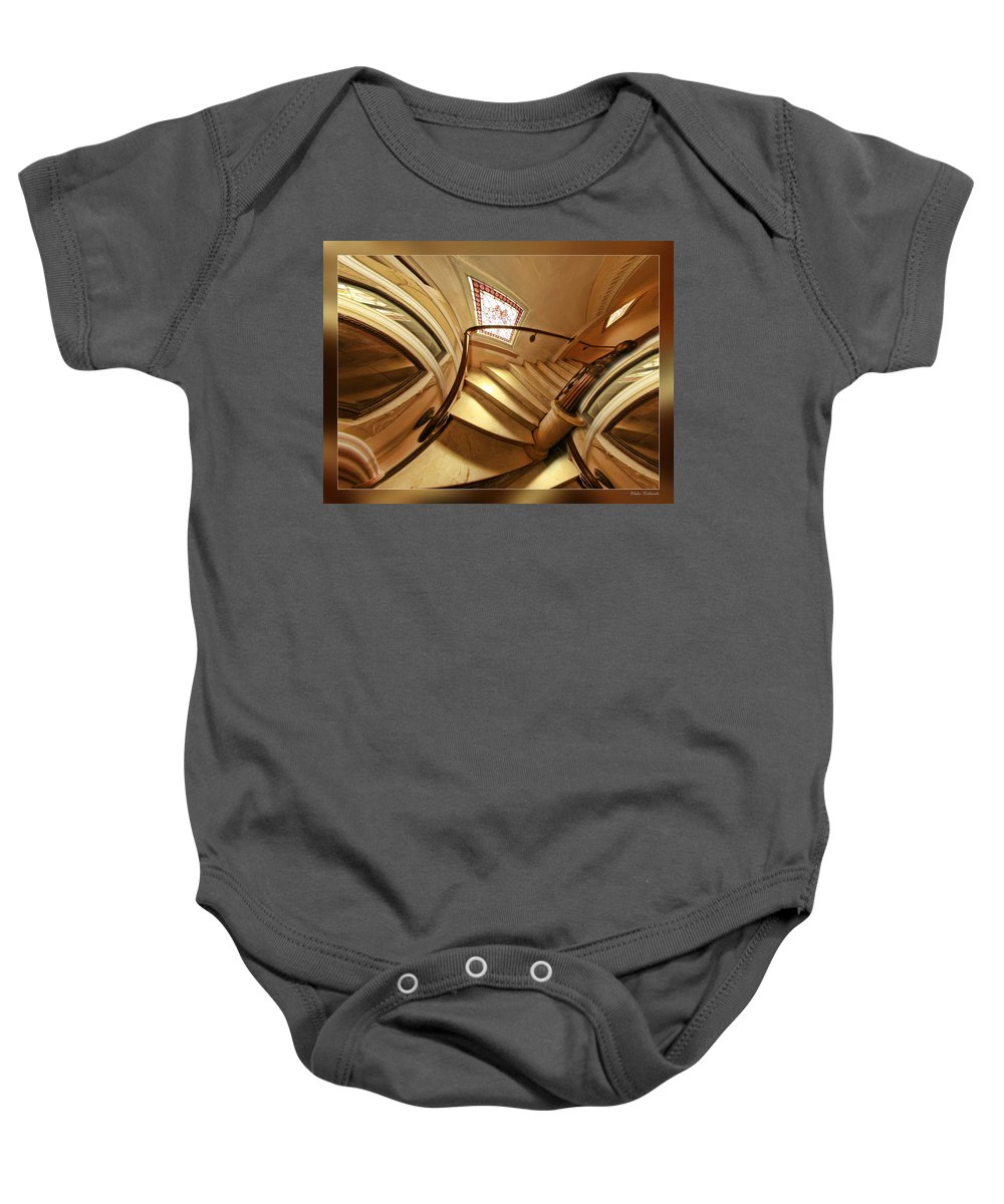 Art Photography Baby Onesie featuring the photograph Winding Staircase by Blake Richards