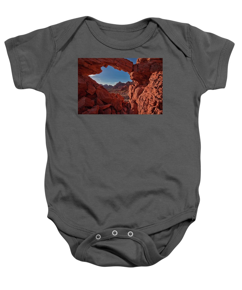 Nevada Baby Onesie featuring the photograph Window On The Valley Of Fire by Rick Berk