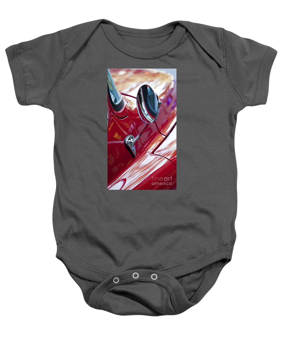 Wing Baby Onesie featuring the photograph Wing Mirror by Chris Dutton