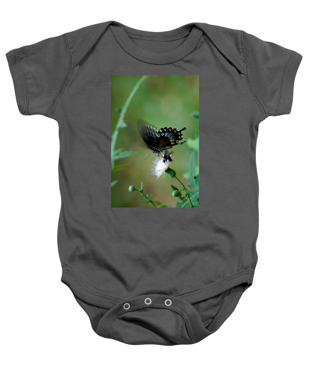 Butterfly Baby Onesie featuring the photograph Wings In Motion by David Weeks