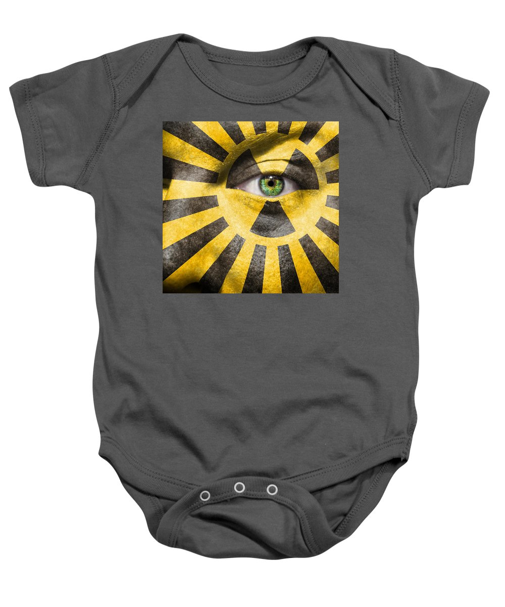 Becquerel Baby Onesie featuring the photograph X-ray Vision by Semmick Photo