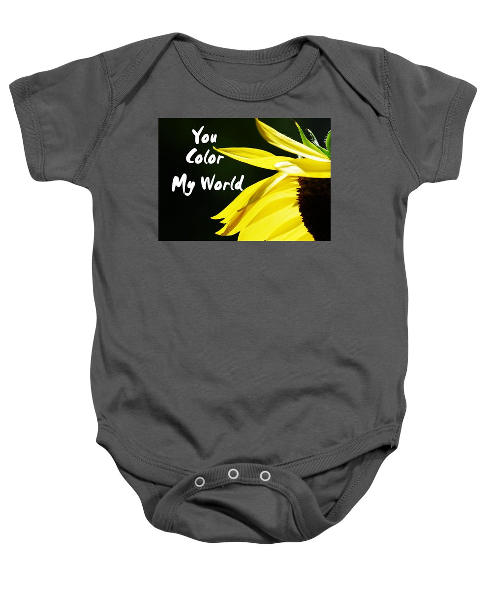 Card Baby Onesie featuring the photograph You Color My World by Judy Hall-Folde