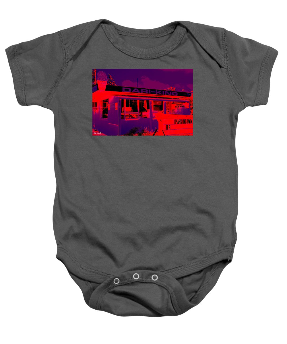 A Fallen King Baby Onesie featuring the photograph A Fallen King by Ed Smith