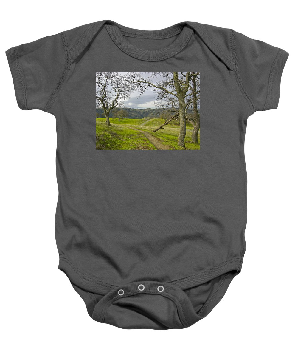 Landscape Baby Onesie featuring the photograph East Ridge Trail Spring by Karen W Meyer
