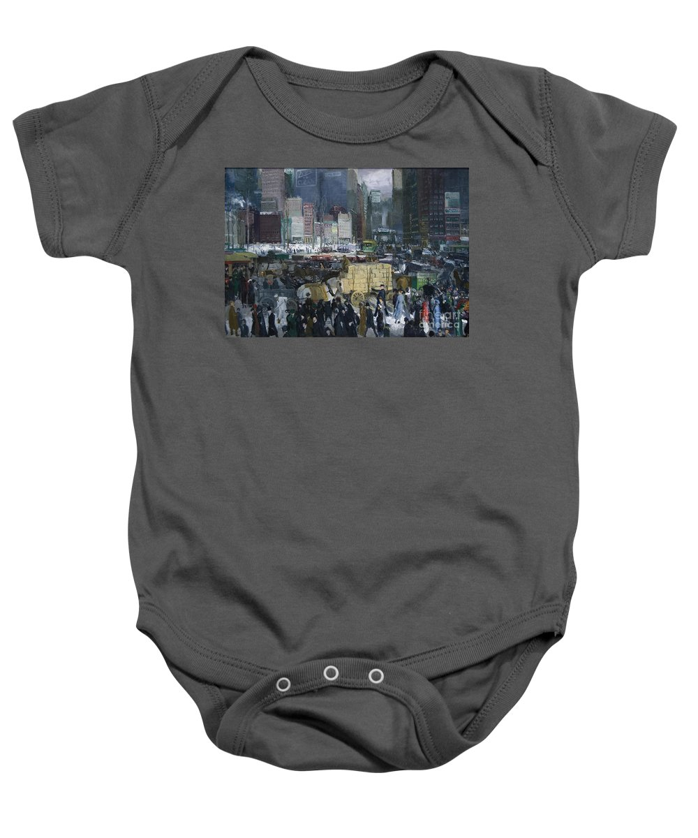 George Bellows Baby Onesie featuring the painting New York by Celestial Images