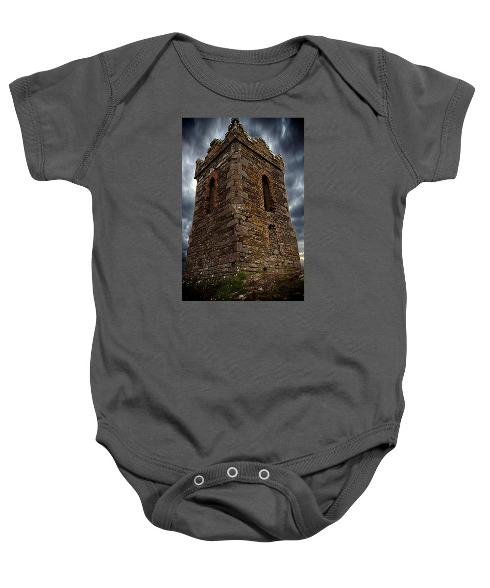 Tower Baby Onesie featuring the photograph Watch Tower by Tony Noto