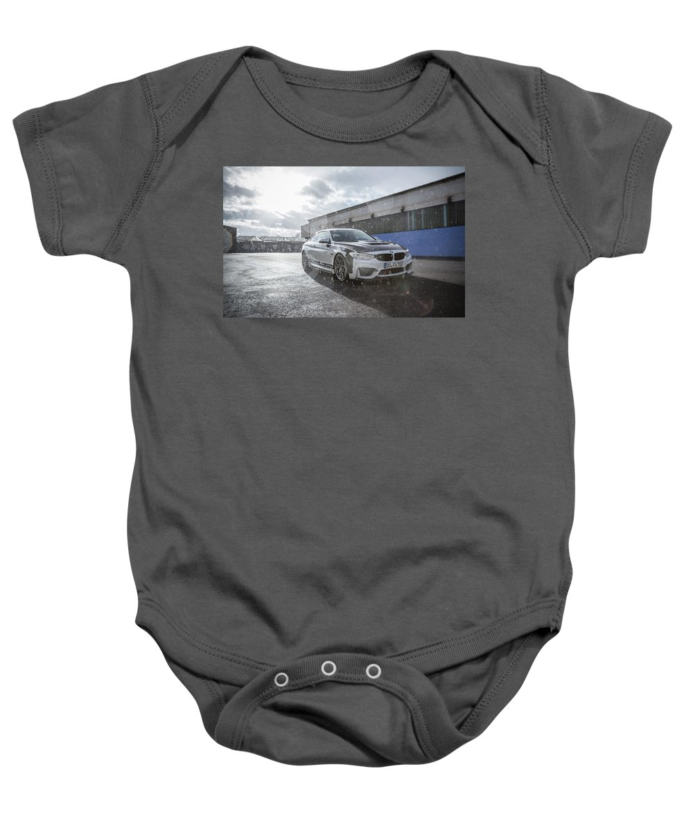 Baby Onesie featuring the digital art 2016 Carbonfiber Dynamics Bmw M4r by Alice Kent