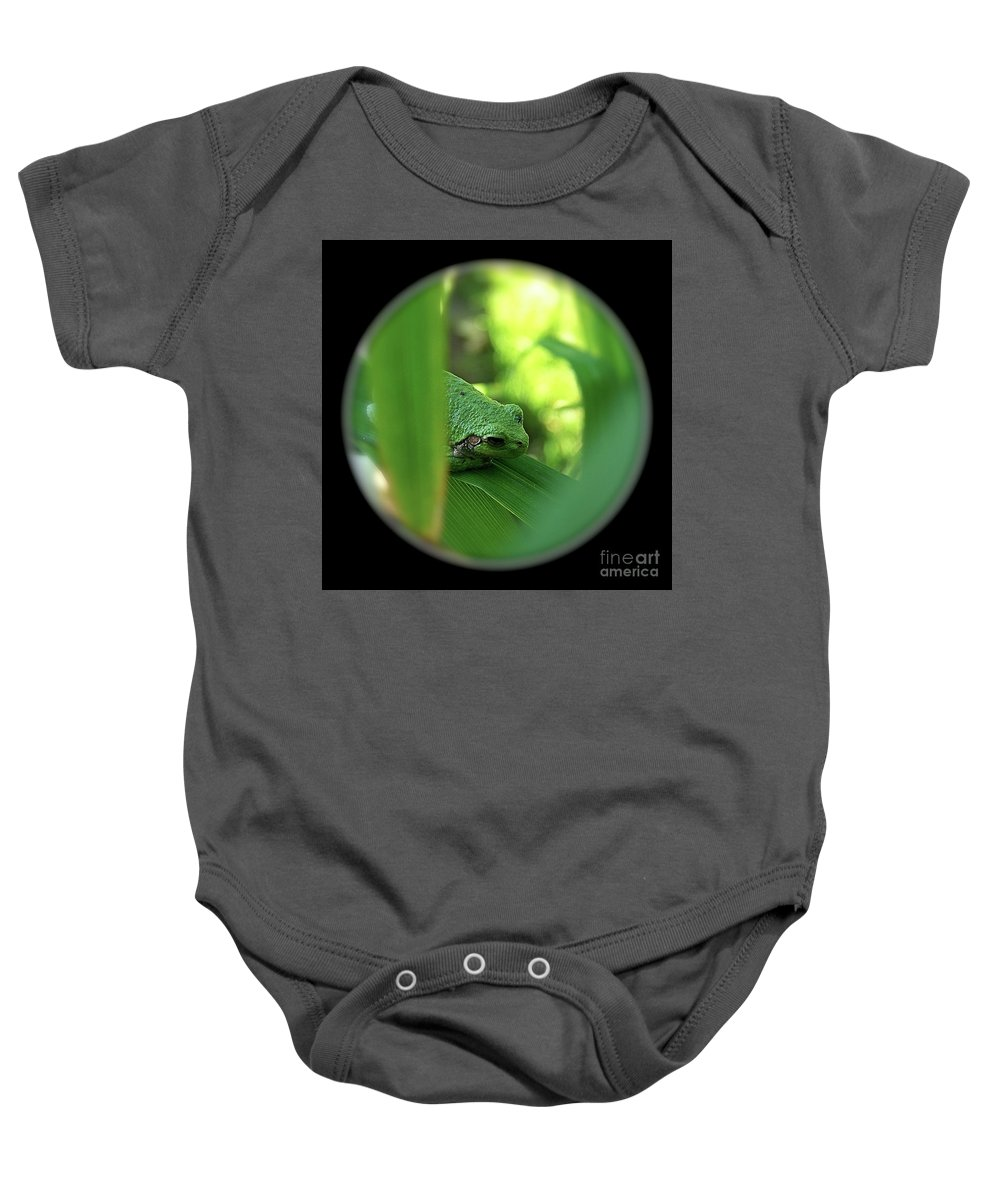 Color Photography Baby Onesie featuring the photograph Ambiguous by Sue Stefanowicz