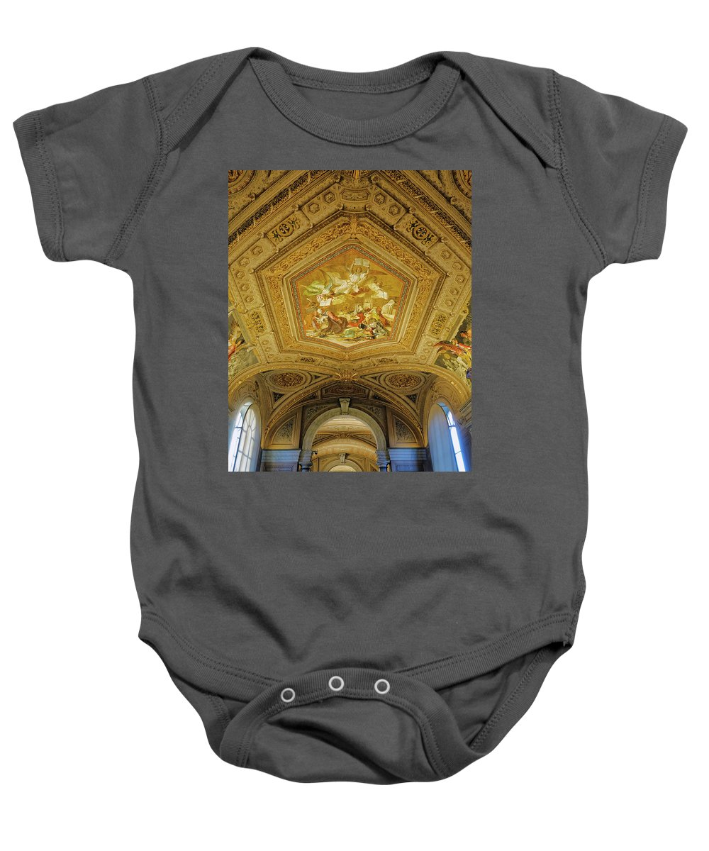 Vatican Baby Onesie featuring the photograph Architectural Artistry Within The Vatican Museum In The Vatican City by Richard Rosenshein