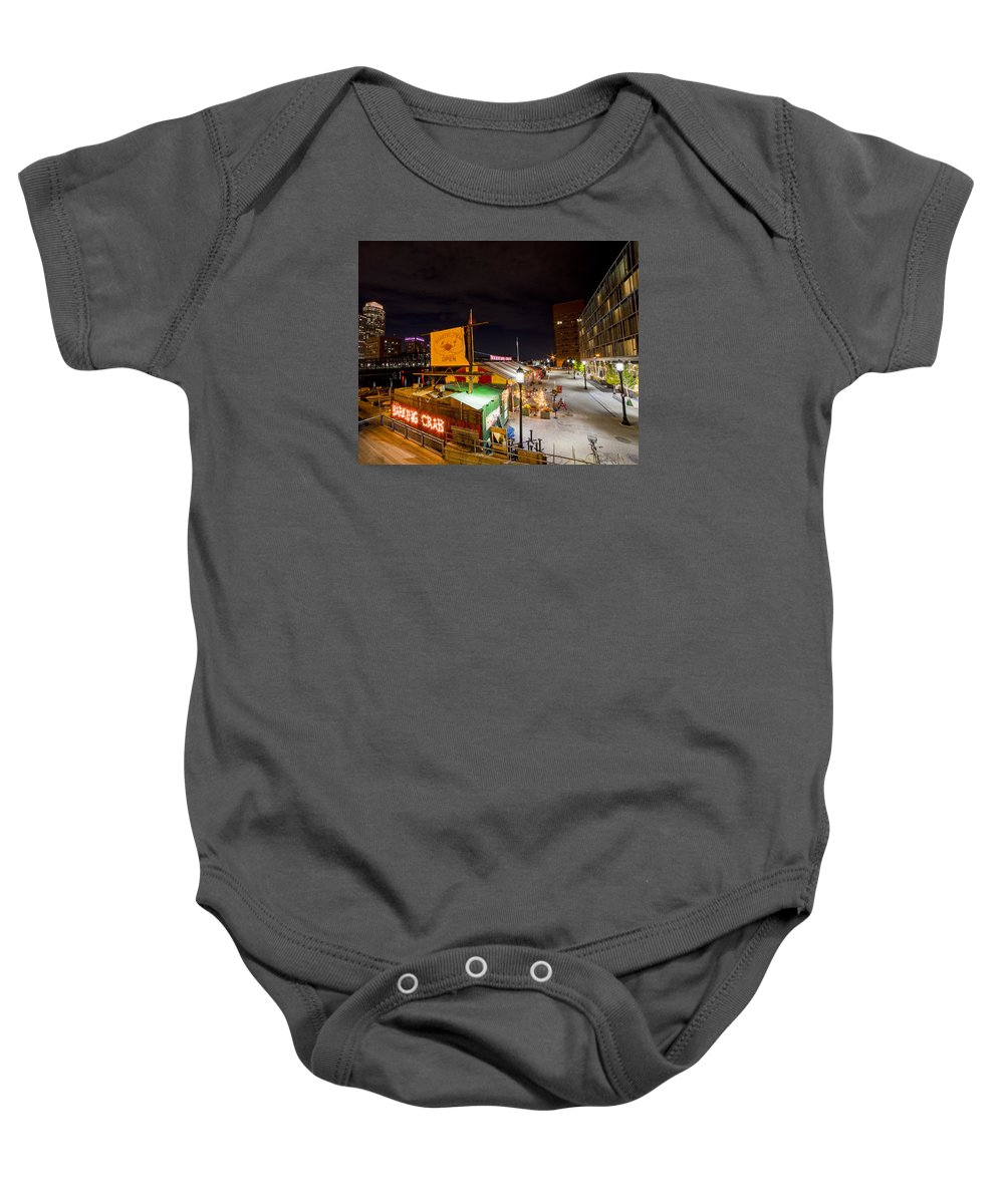 Boston Baby Onesie featuring the photograph Barking Crab Boston Ma by Toby McGuire