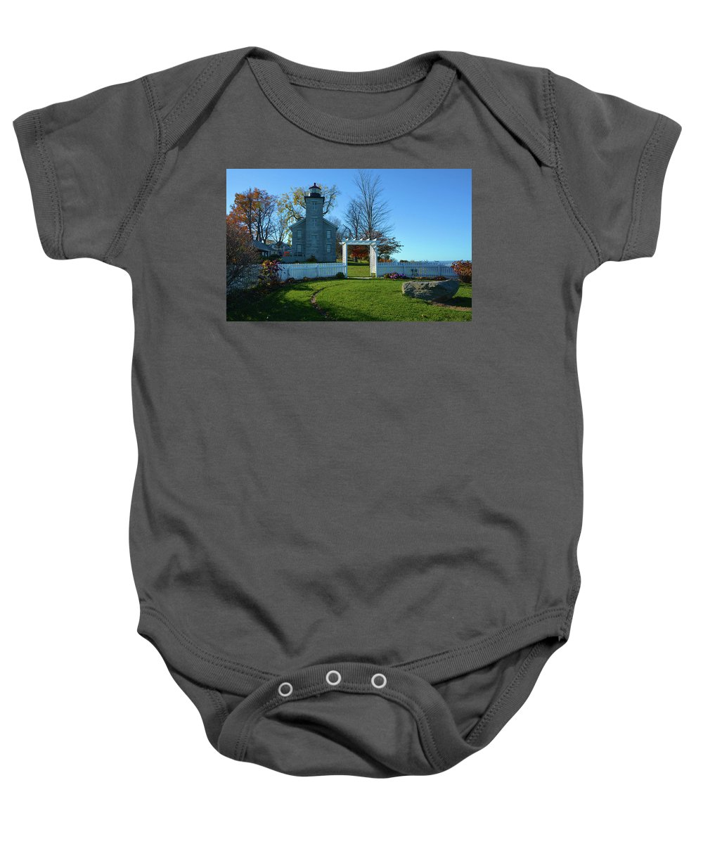Scenic Baby Onesie featuring the photograph Big Sodus Lighthouse by Richard Jenkins