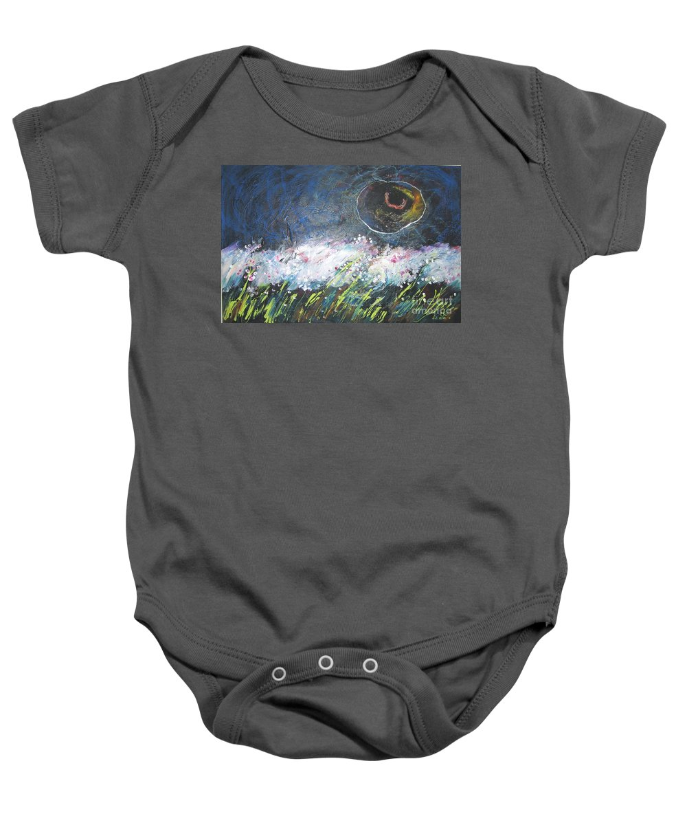 Aabstract Paintings Baby Onesie featuring the painting Buckwheat Field by Seon-Jeong Kim