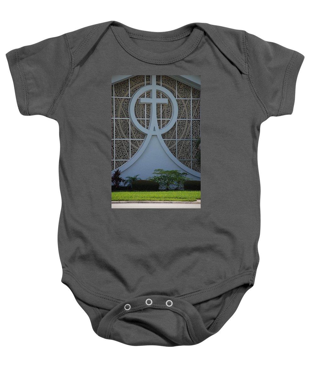 Church Baby Onesie featuring the photograph Circle T Church by Rob Hans
