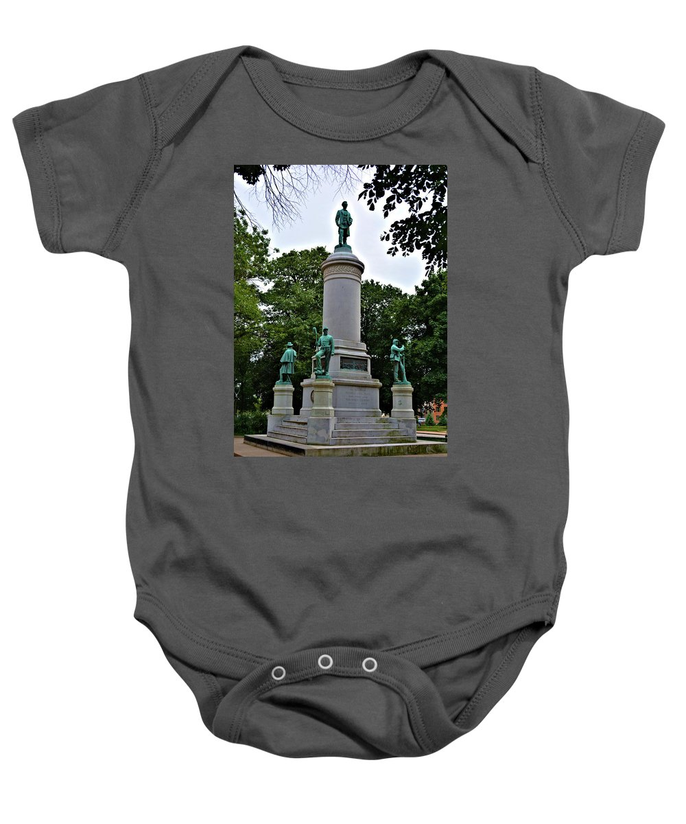 Civil Baby Onesie featuring the photograph Civil War Memorial by Richard Jenkins