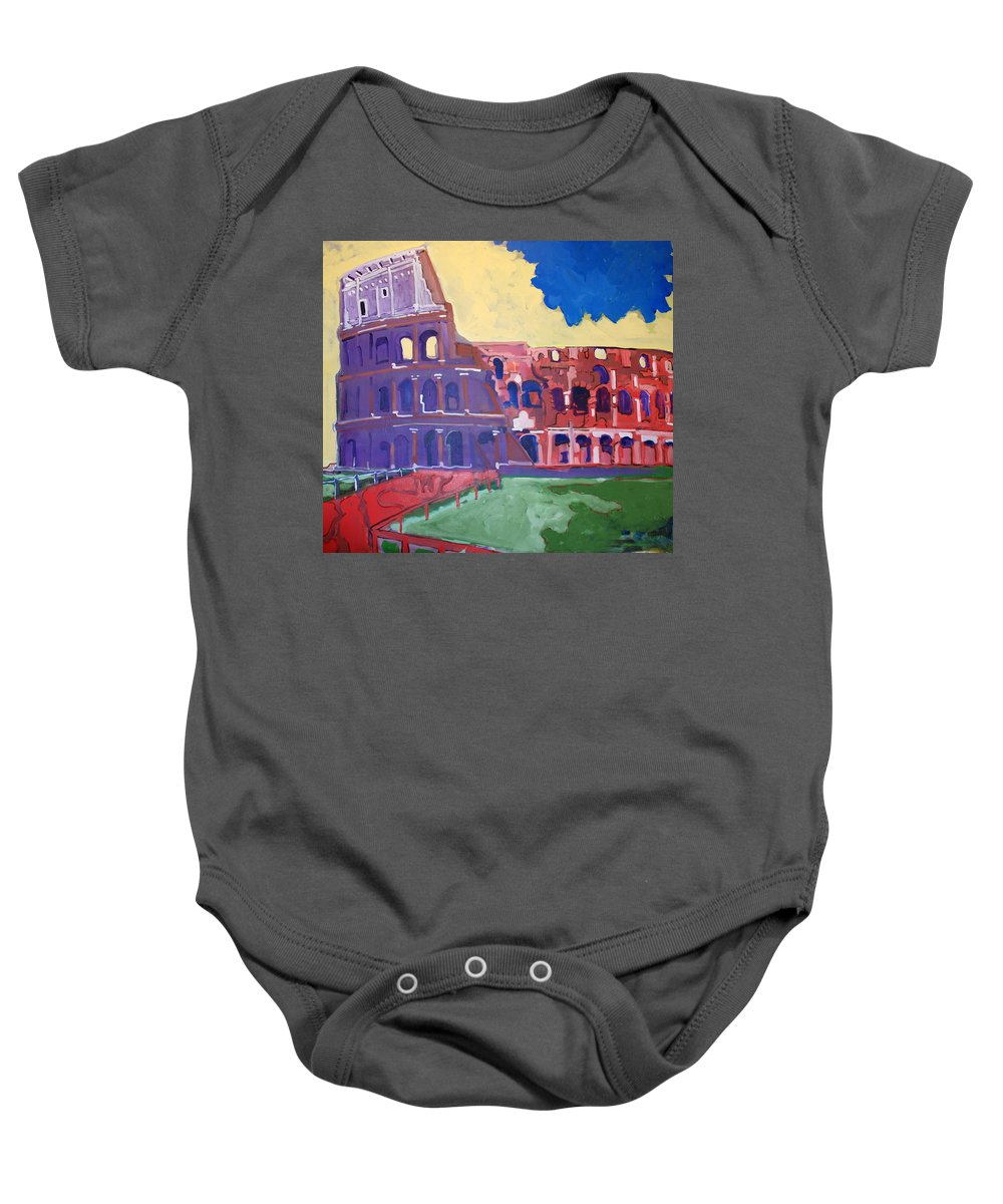 Rome Baby Onesie featuring the painting Colosseum by Kurt Hausmann