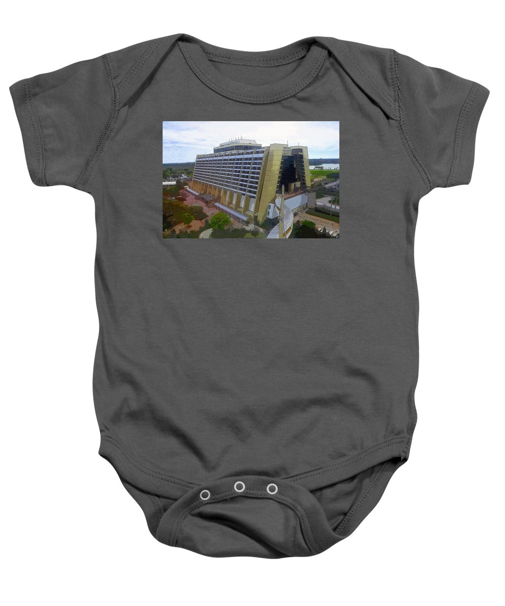 Art Baby Onesie featuring the painting Contemporary by David Lee Thompson