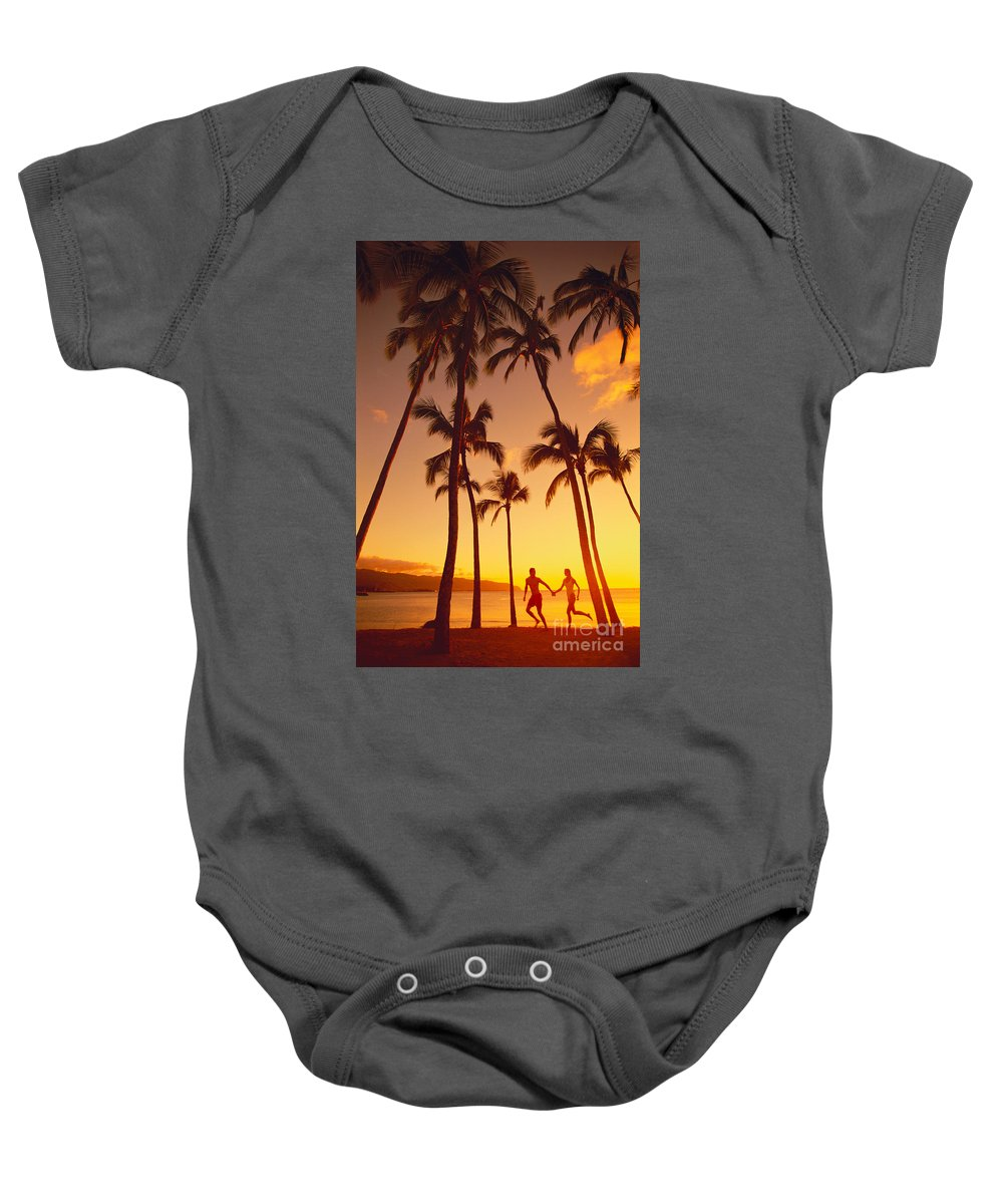 Affection Baby Onesie featuring the photograph Couples Vacation by Dana Edmunds - Printscapes