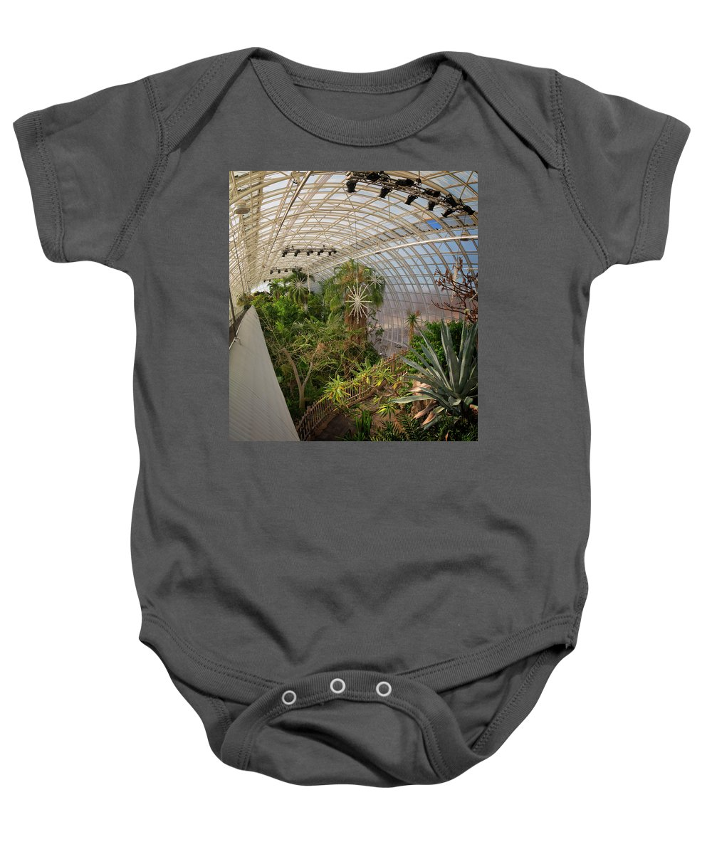Architecture Baby Onesie featuring the photograph Crystal Bridge by Ricky Barnard