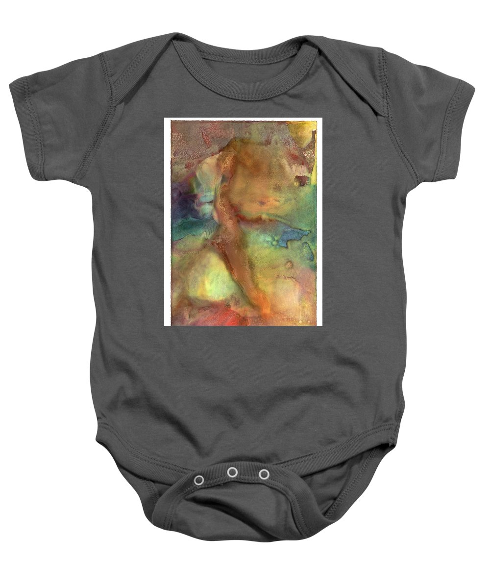 Baby Onesie featuring the painting Dawn On Neptune by Sperry Andrews