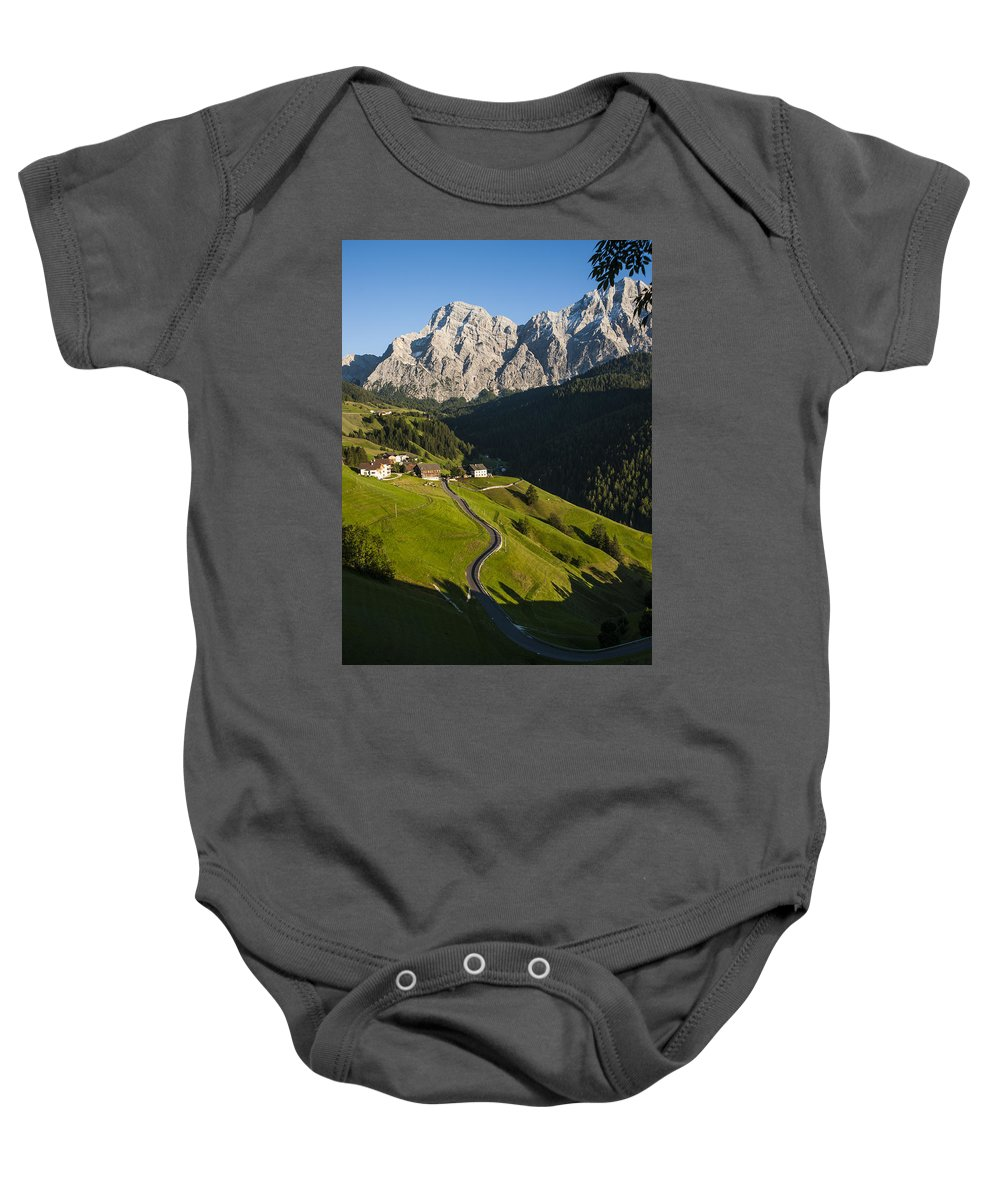 Mountains Baby Onesie featuring the photograph Dolomiti Landscape by Massimo Battaglia