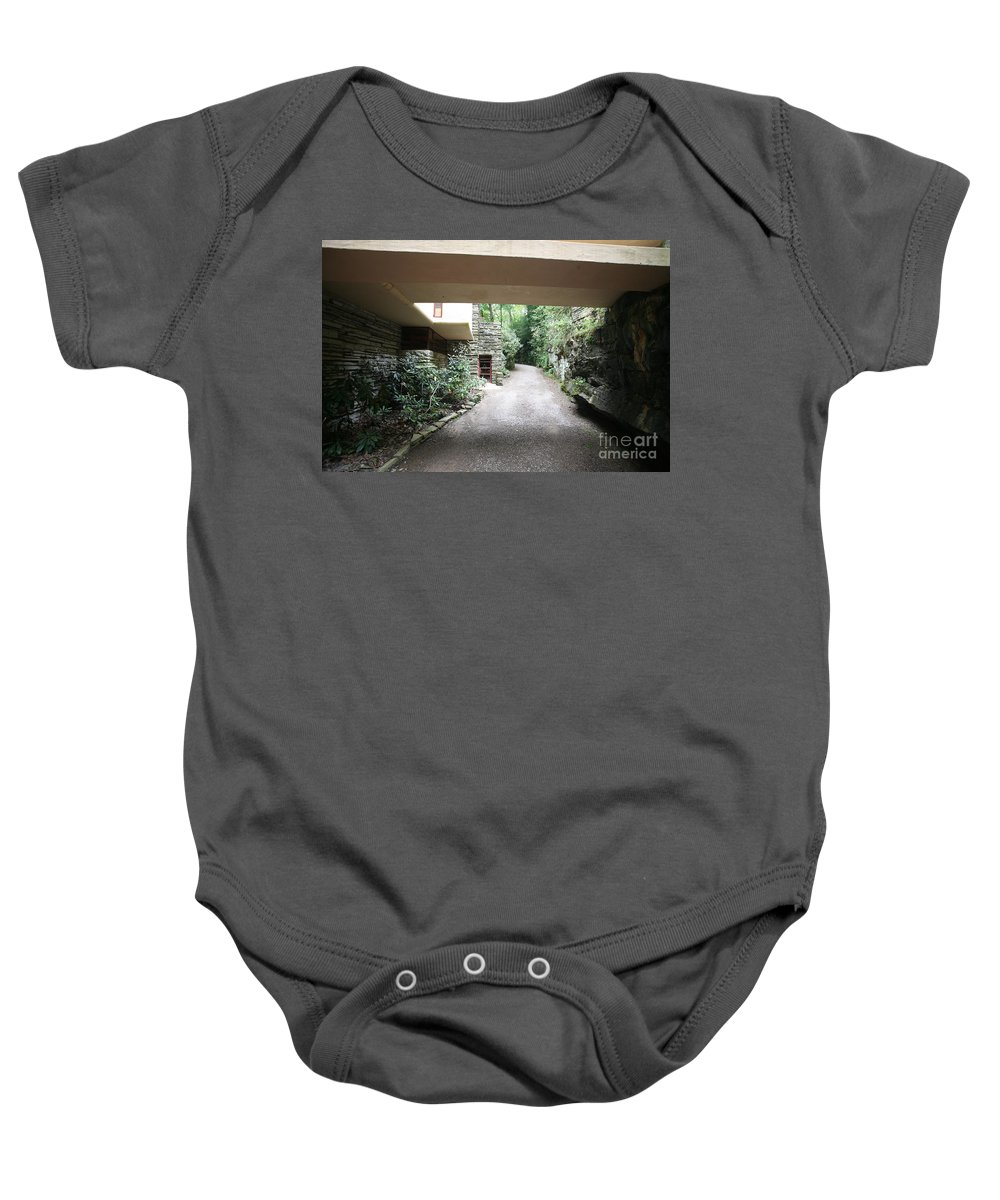 Falling Water Baby Onesie featuring the photograph Driveway Fallingwater by Chuck Kuhn