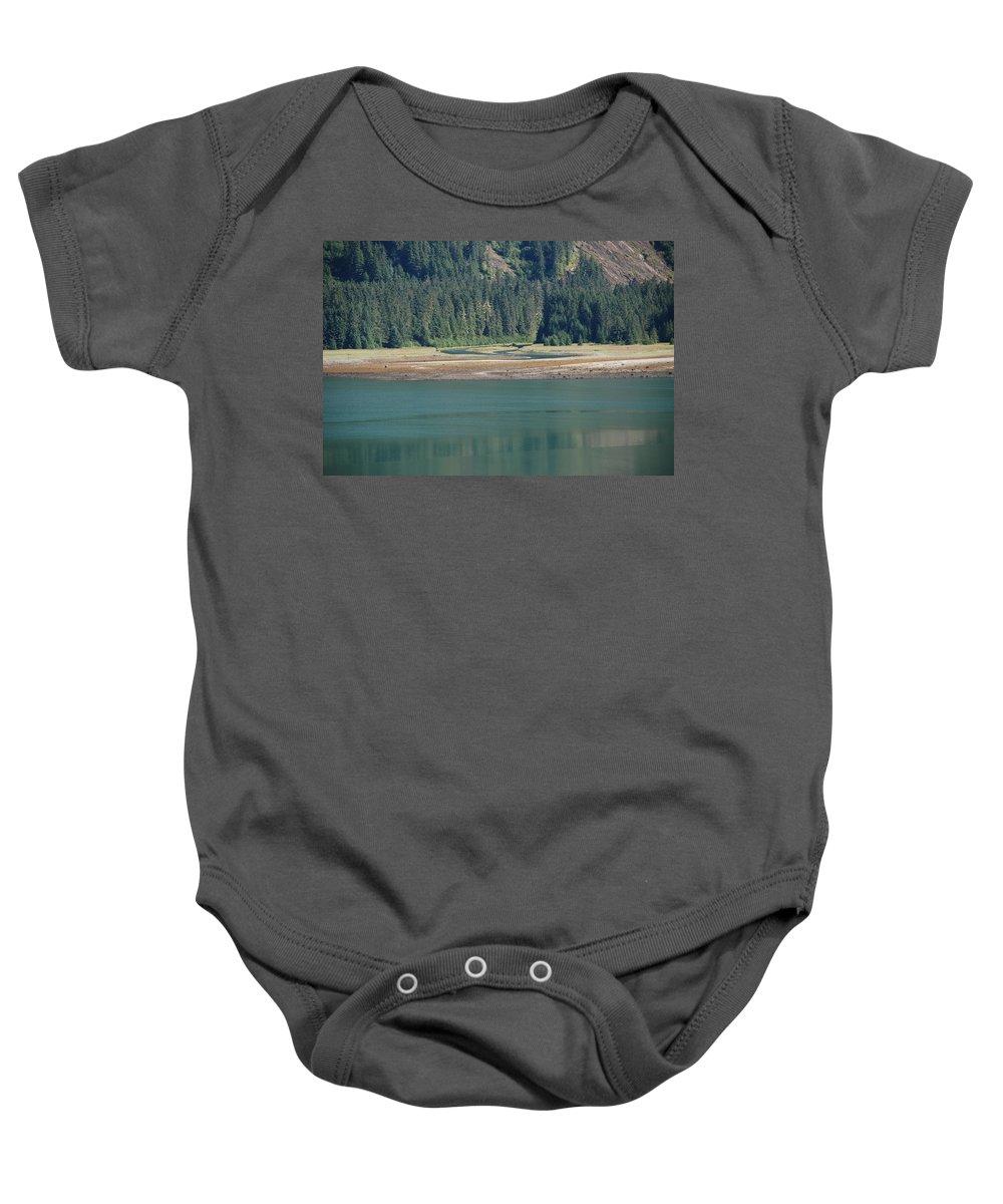 Landscape Baby Onesie featuring the photograph Endicott Glacier Area by Carol Eliassen