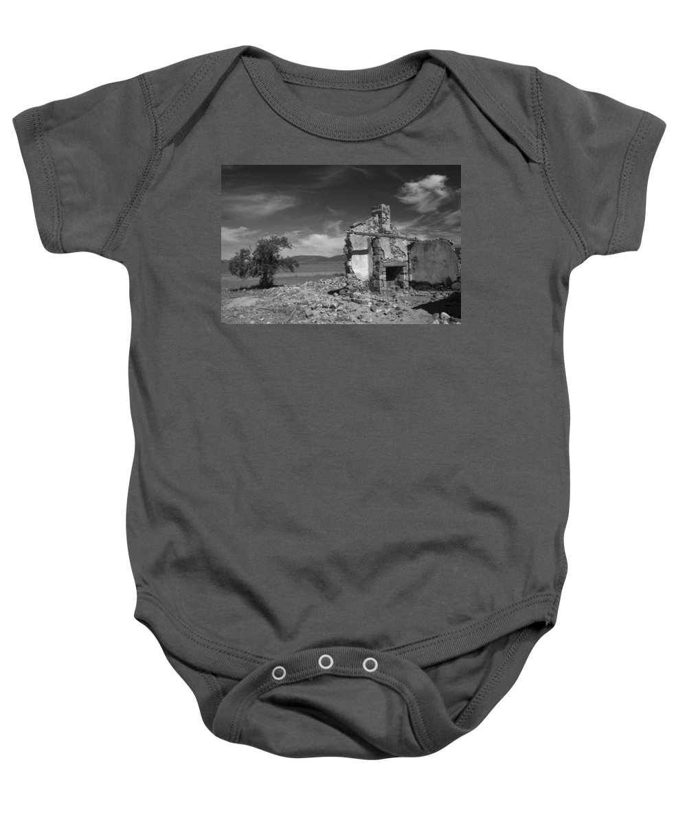 Cottage Baby Onesie featuring the photograph Farmhouse Cottage Ruin Flinders Ranges South Australia by Ralph A Ledergerber-Photography