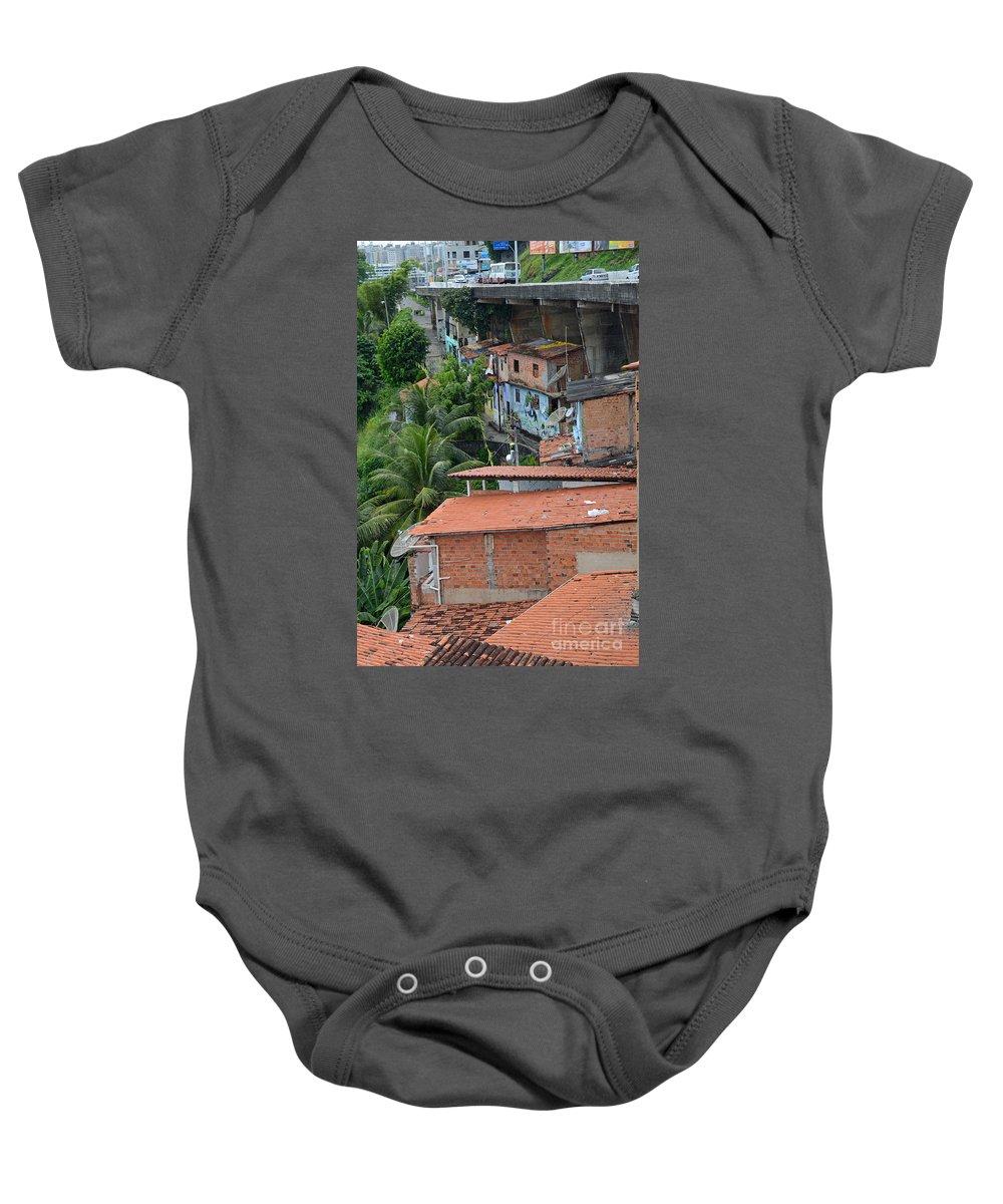 Salvador Baby Onesie featuring the photograph Favela In Salvador Da Bahia Brazil by Ralf Broskvar