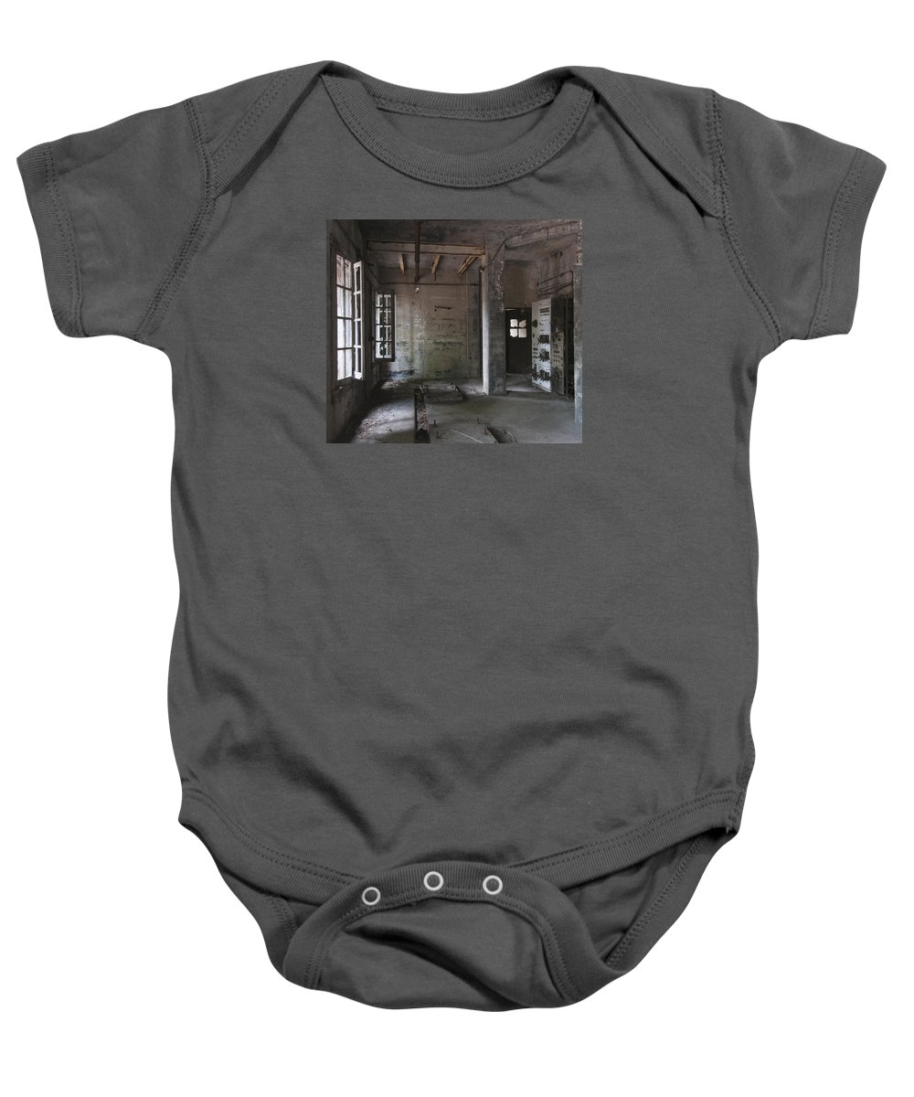 Ft Baby Onesie featuring the photograph Fort Totten 6763 by Bob Neiman