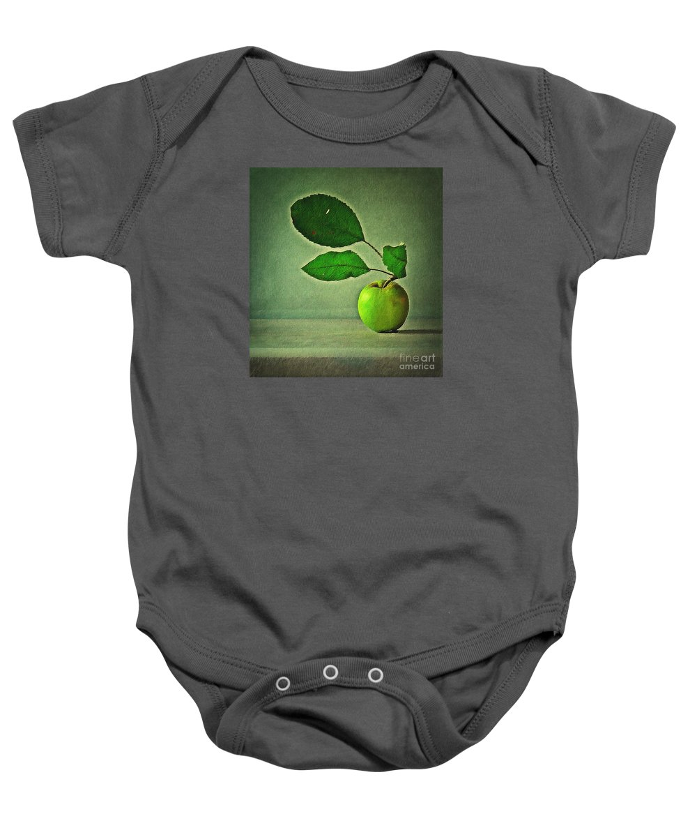 Apple Baby Onesie featuring the digital art Haiku by Binka Kirova