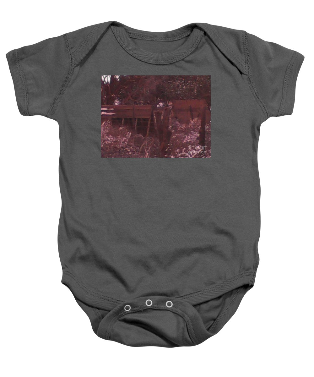 Hog Baby Onesie featuring the photograph Hog House by Frederick Holiday