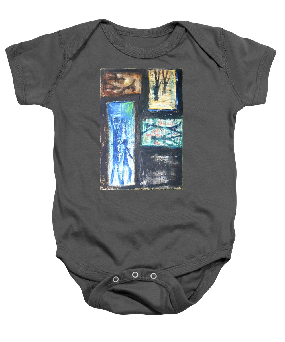 Drawing Baby Onesie featuring the painting Images by Gideon Cohn