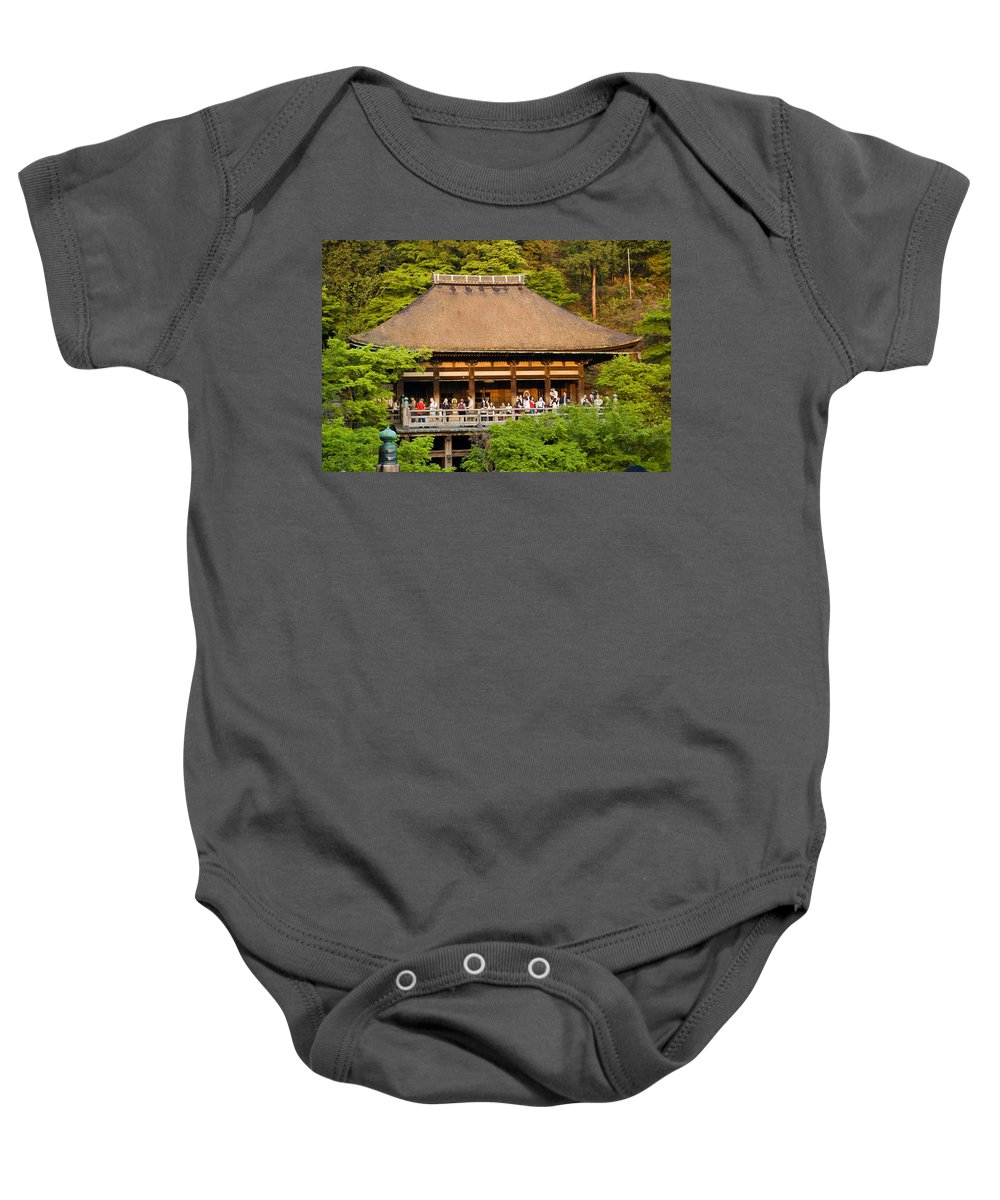 Pagoda Baby Onesie featuring the photograph Kiyomizudera Temple by Sebastian Musial