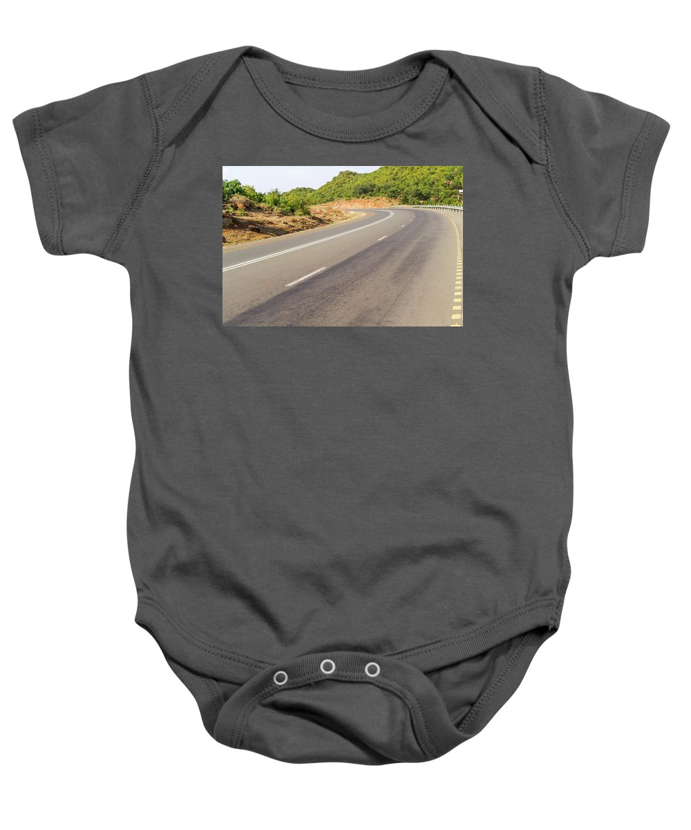 Picturesque Baby Onesie featuring the photograph Landscape In Tanzania by Marek Poplawski