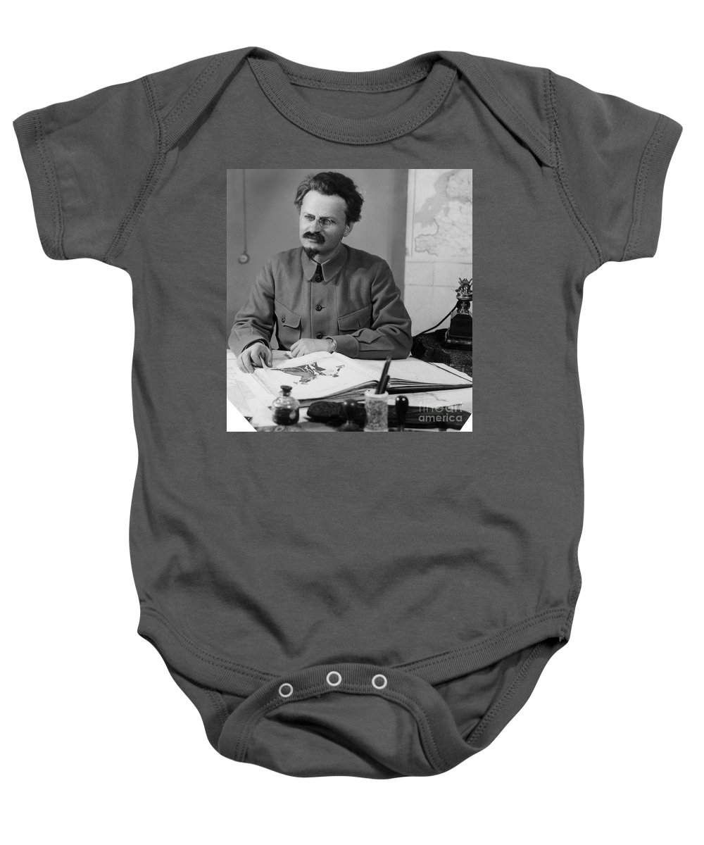 20th Century Baby Onesie featuring the photograph Leon Trotsky (1879-1940) by Granger