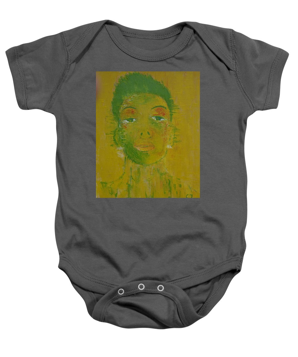 Lovely Boy Baby Onesie featuring the painting Lovely Boy by Crina Iancau