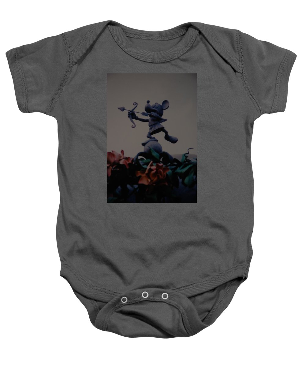 Micky Mouse Baby Onesie featuring the photograph Mickey Mouse by Rob Hans