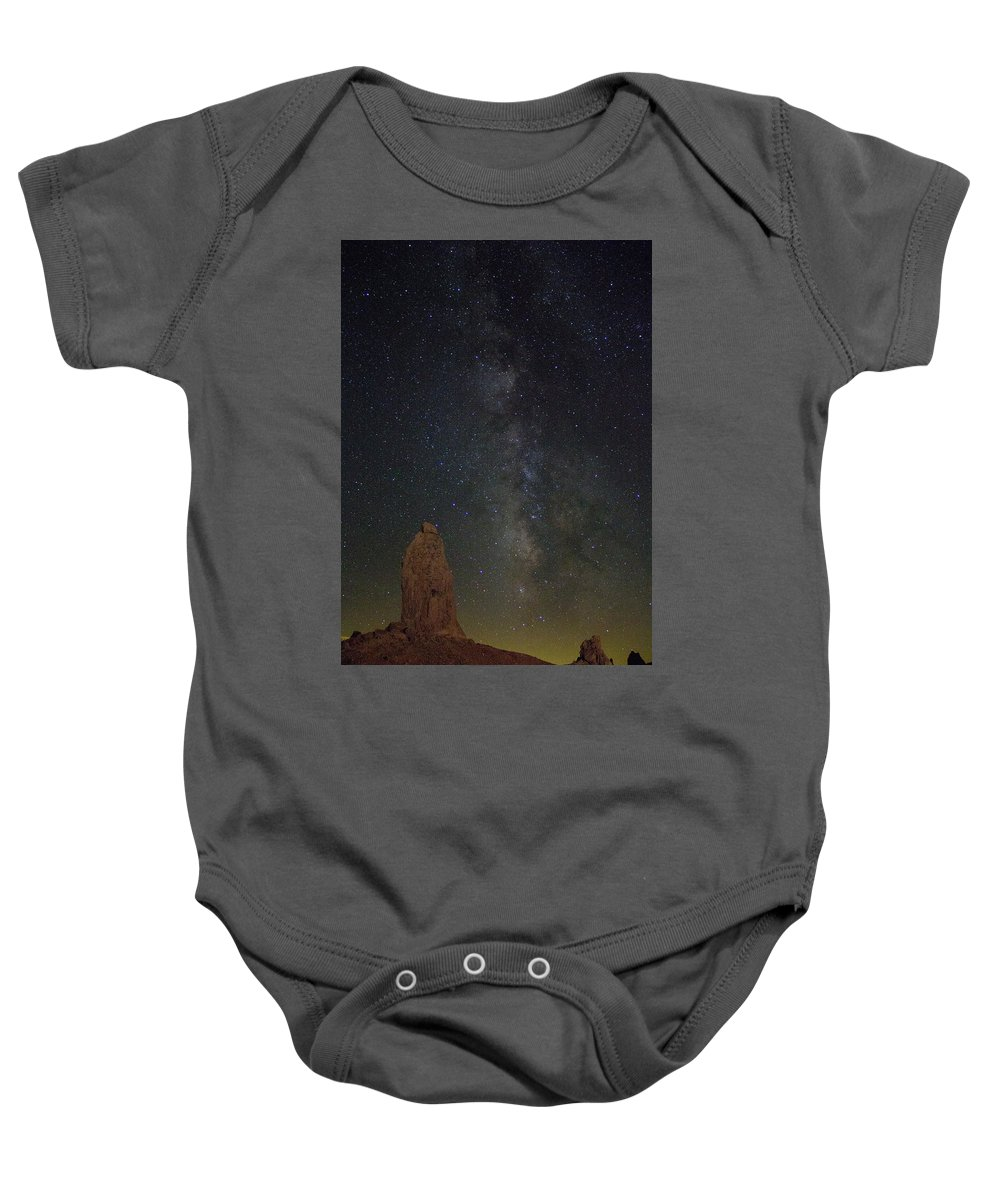 Baby Onesie featuring the photograph Milky Way At Trona Pinacles by Rick Mueller