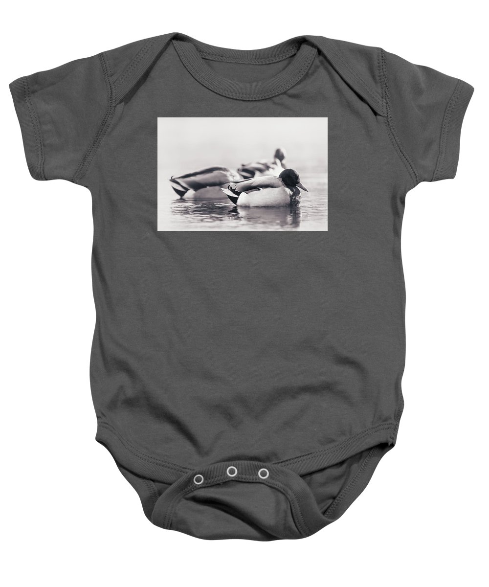 Duck Baby Onesie featuring the photograph Morning Nap by Annette Bush