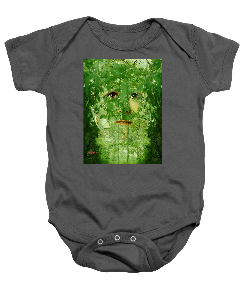 Lady Baby Onesie featuring the digital art Mother Nature by Seth Weaver