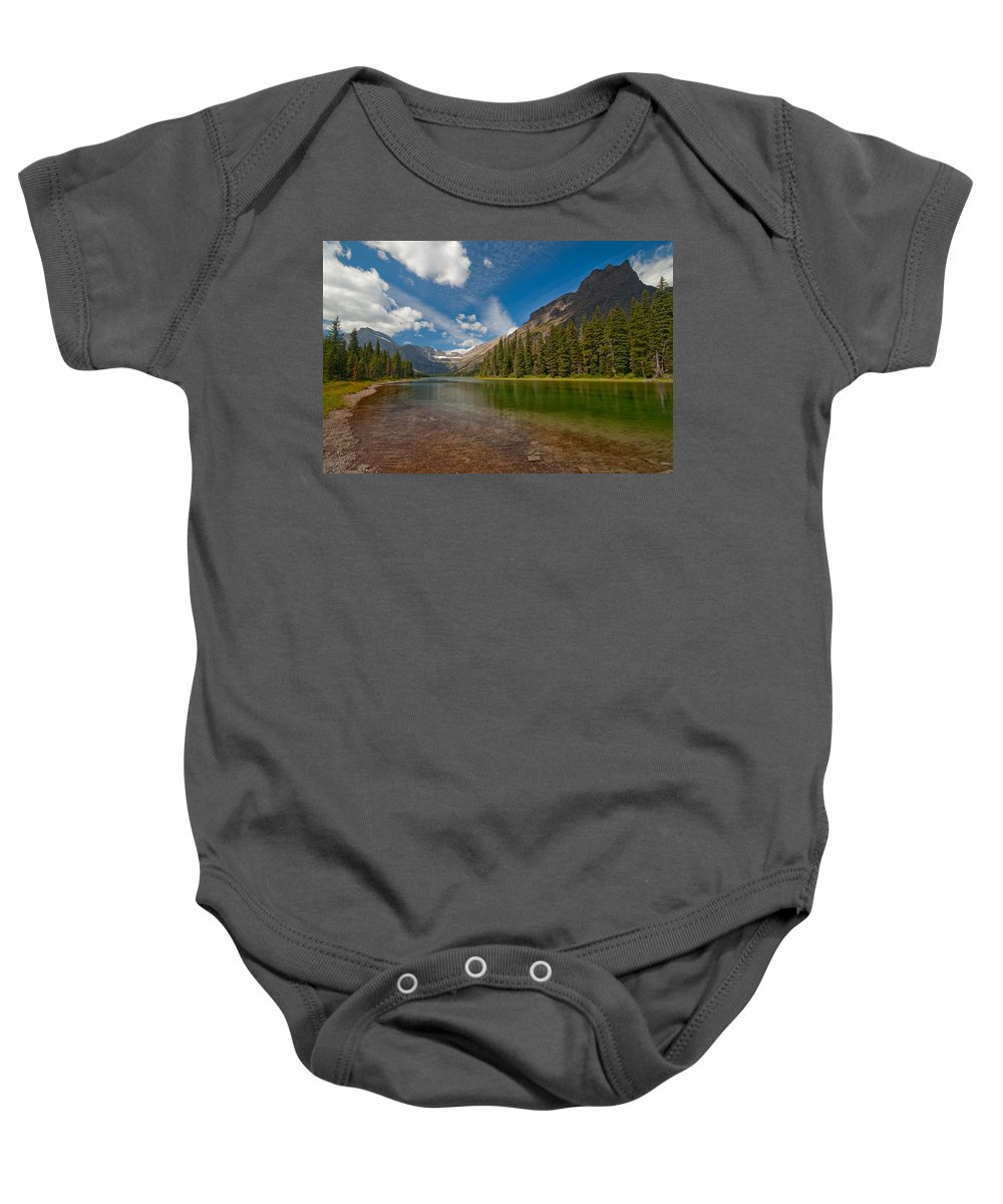 Nature Baby Onesie featuring the photograph Moutain Lake by Sebastian Musial