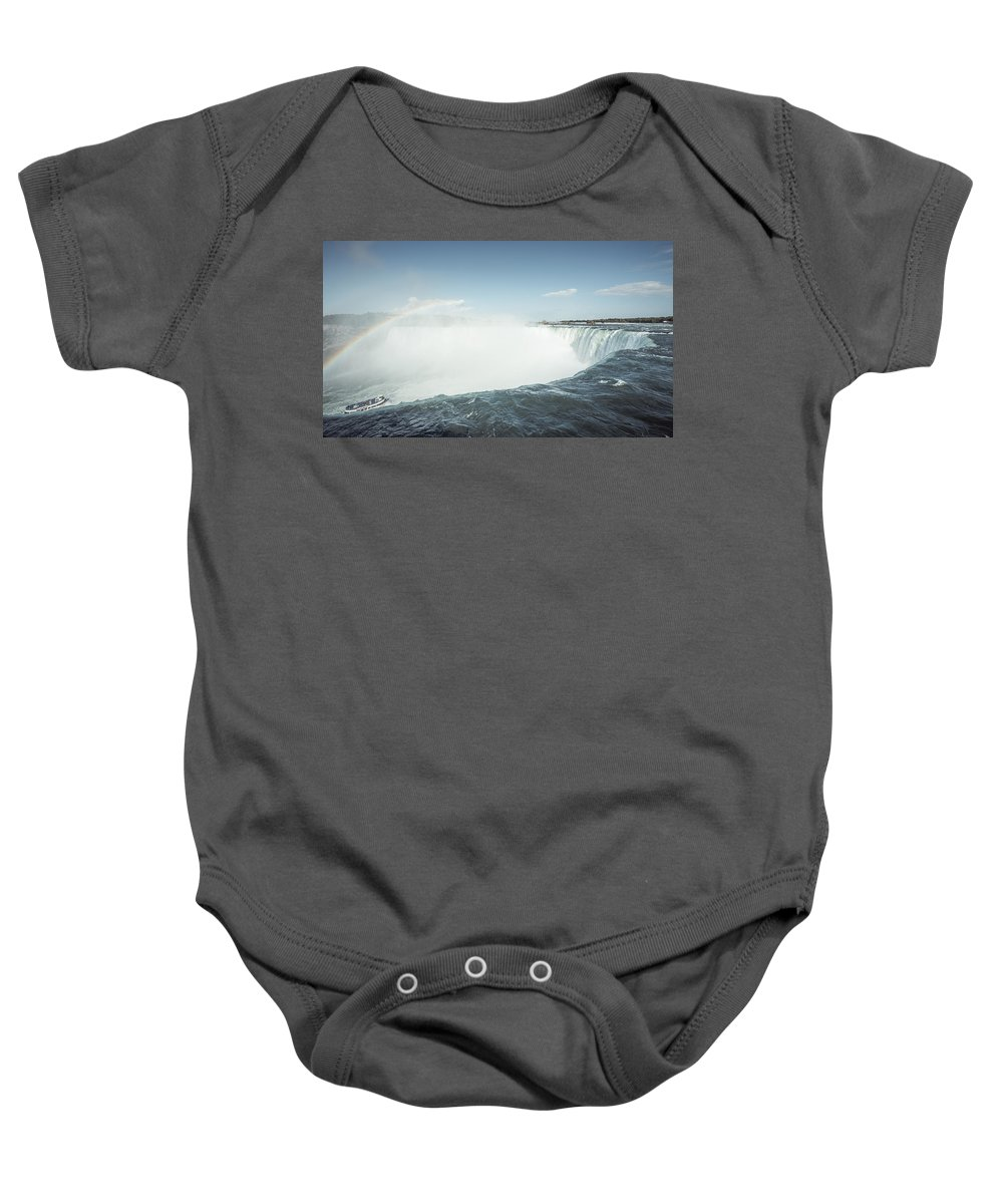 Niagara Falls Baby Onesie featuring the photograph Niagara Falls by Alexander Voss