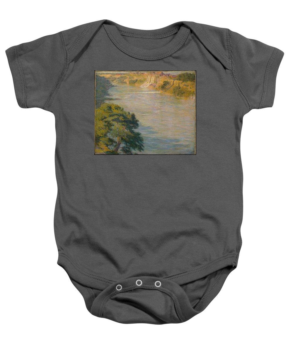 Philip L Hale Niagara Falls Baby Onesie featuring the painting Niagara Falls by Philip L Hale