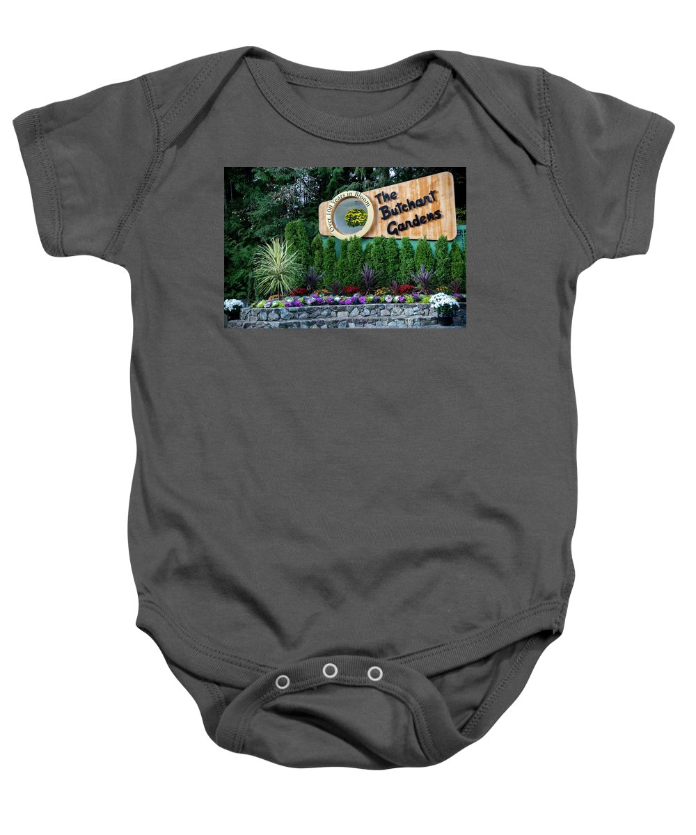 Outdoor Baby Onesie featuring the photograph Over 100 Yrs In Bloom, Historic Garden Icon, The Butchart Gardens. by Andrew Kim