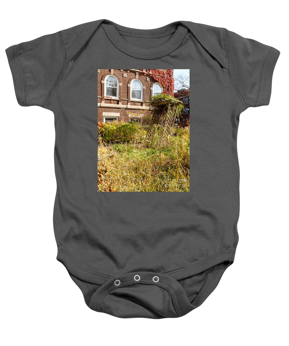 America Baby Onesie featuring the photograph Overgrown Fall Garden by Jannis Werner