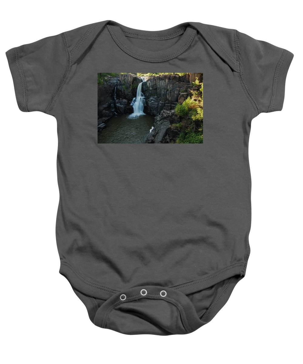 North America Baby Onesie featuring the photograph Pigeon River Falls by David Finlayson