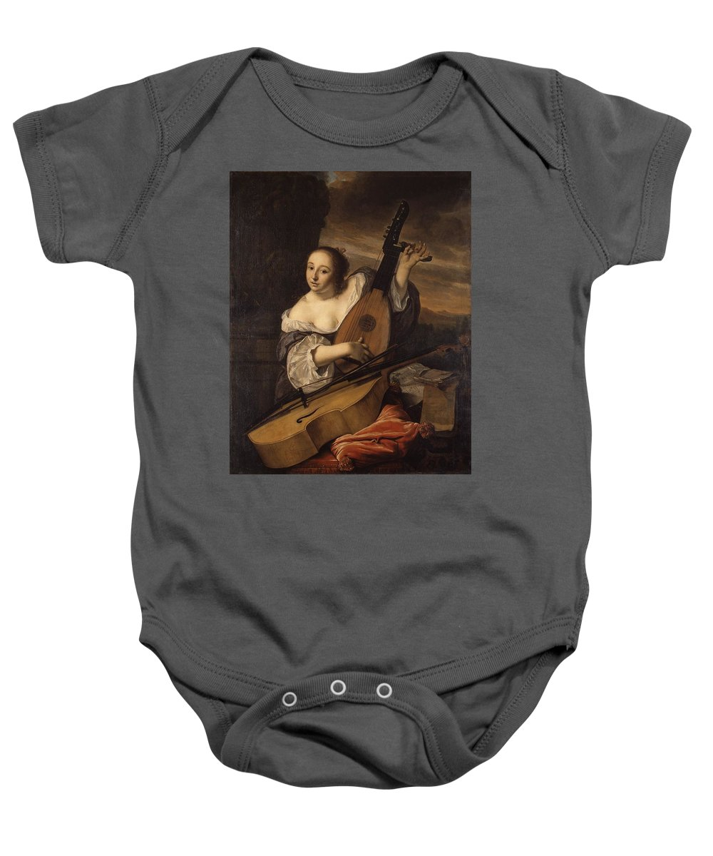 Bartholomeus Van Der Helst Baby Onesie featuring the painting Portrait Of A Woman by van der Helst